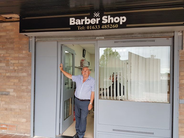 Joe Vecchio, a barber in Fairwater Shops in Cwmbran