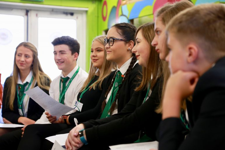 Young people quiz assembly members in Cwmbran Centre for Young People