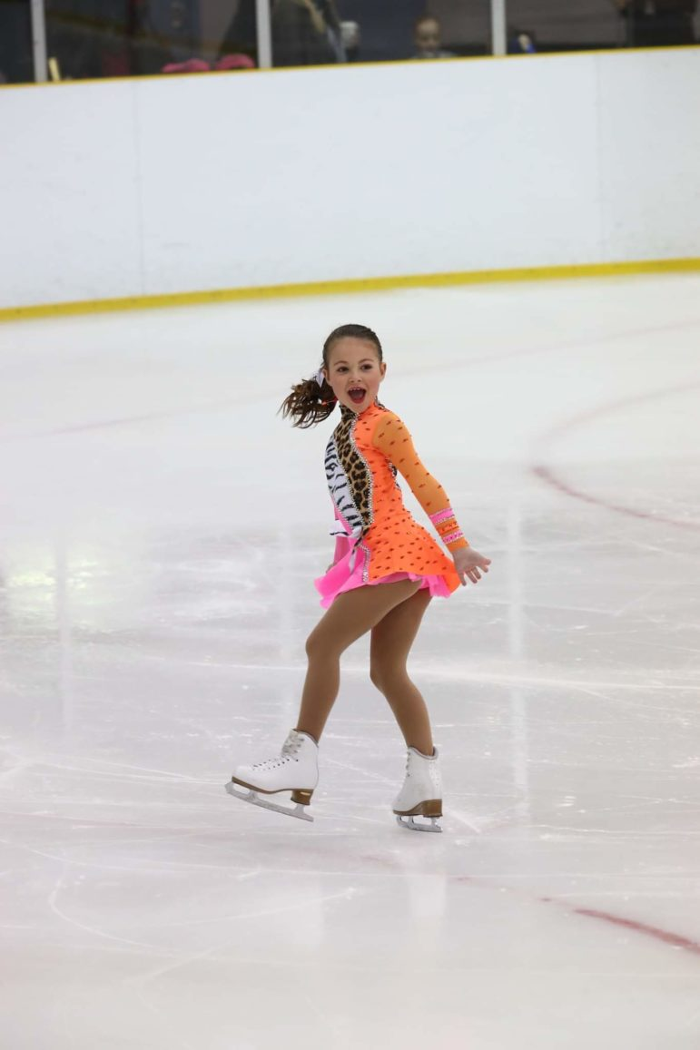 Ice skater Lily Grace Walding in a competition